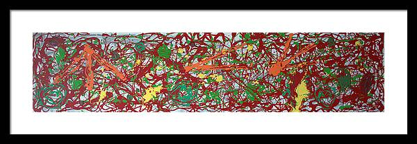 Abstract Painting Framed Print featuring the painting Veggielicious by J R Seymour