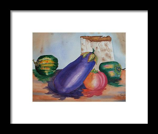 Vegi Tails Framed Print featuring the painting Vegi Tails by Warren Thompson