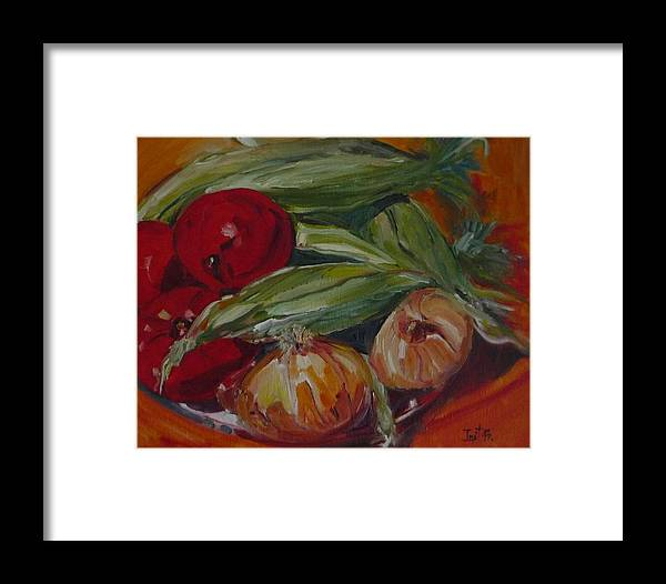 Vegie Framed Print featuring the painting Vegie Feast by Irit Bourla