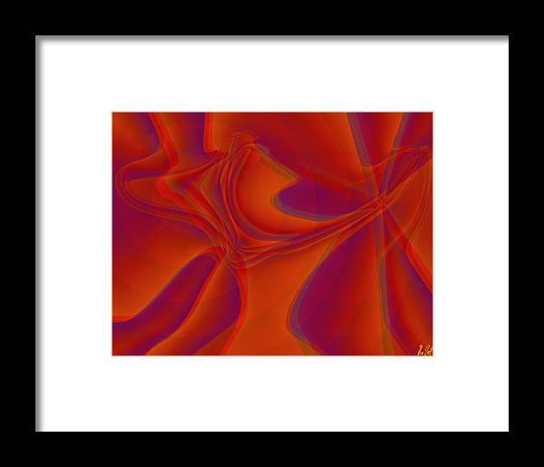 Veil Framed Print featuring the digital art Veil Dance by Helmut Rottler