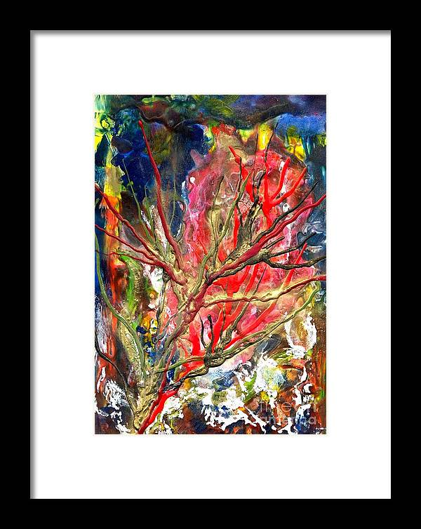 Free Framed Print featuring the painting Veins Of Promise by Heather Hennick