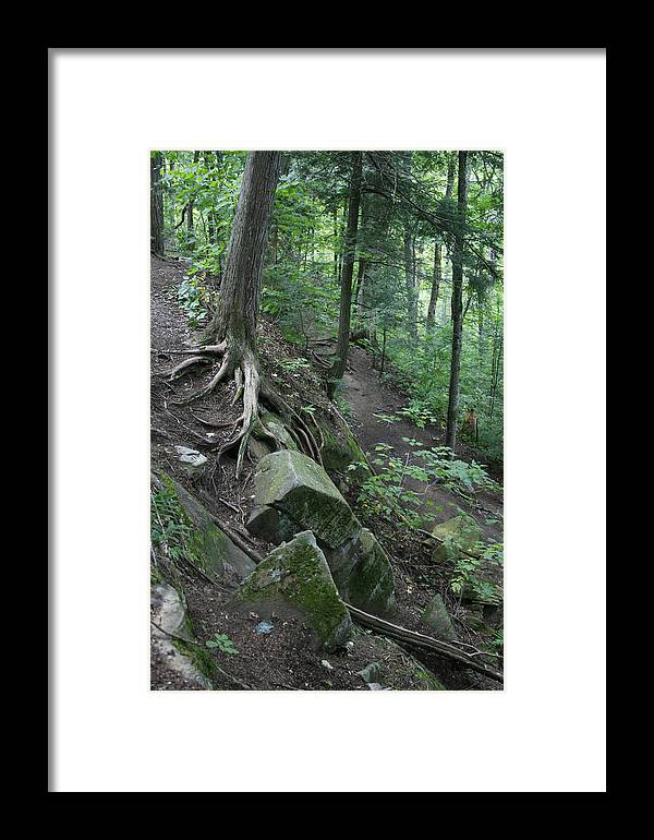 Landscape Framed Print featuring the photograph Velvet Rock by Alan Rutherford