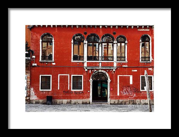 Venetian Architecture Framed Print featuring the photograph Venetian Architecture by John Rizzuto
