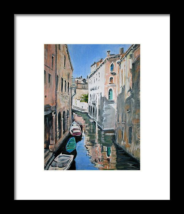 Venice Framed Print featuring the painting Venetian Blue by Jami Burns