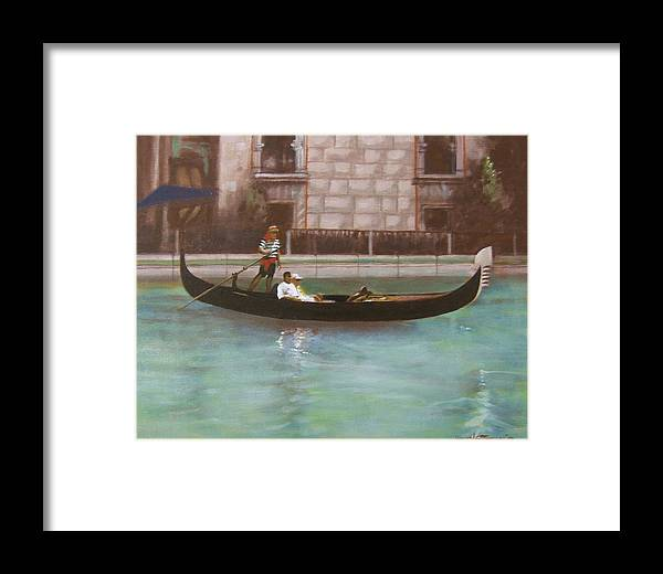 Smooth Sailing Framed Print featuring the painting Venetian by Howard Stroman