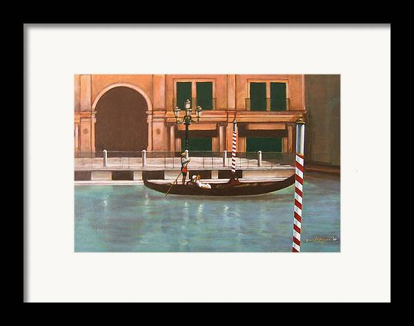 Smooth Sailing Framed Print featuring the painting Venetian Number Two by Howard Stroman