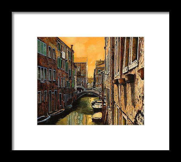 Venice Framed Print featuring the painting Venezia Al Tramonto by Guido Borelli