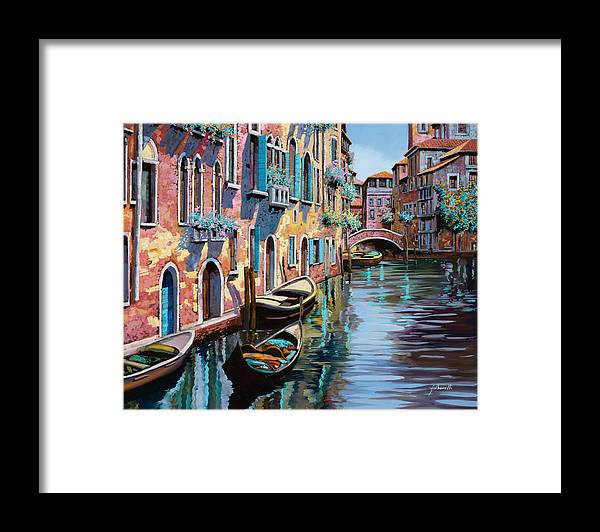 Venice Framed Print featuring the painting Venezia In Rosa by Guido Borelli