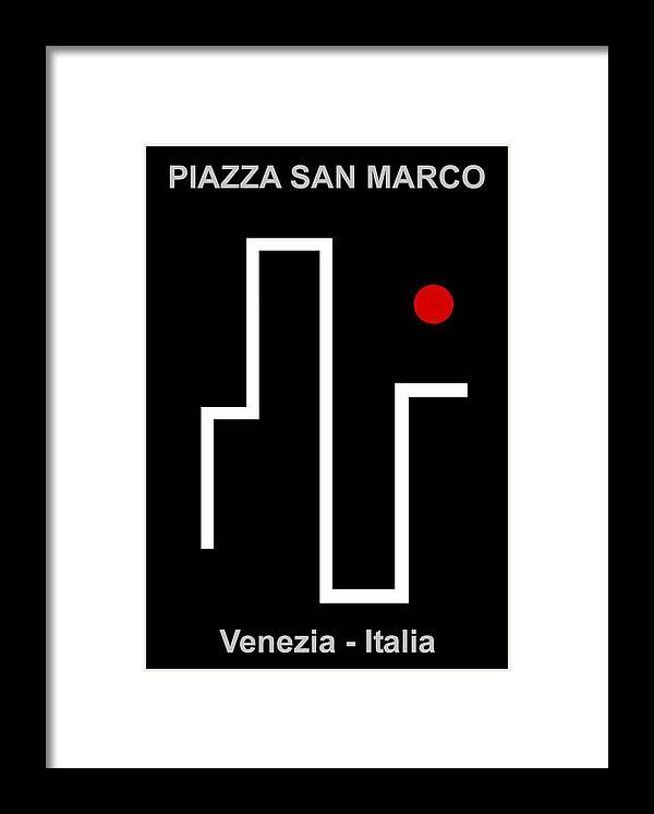 Piazza San Marco Framed Print featuring the digital art Venezia Italia by Asbjorn Lonvig
