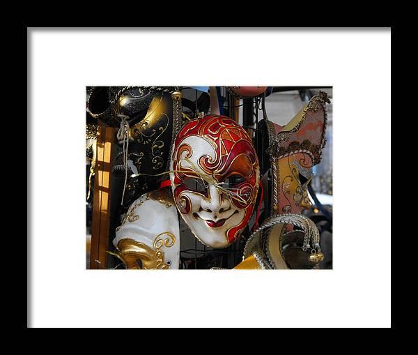 Framed Print featuring the photograph Venezian Masks by Viviana Puello Villa