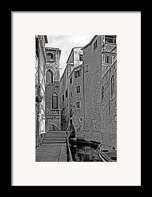 Venice In B&w Framed Print featuring the photograph Venice 2 by Victor Yekelchik