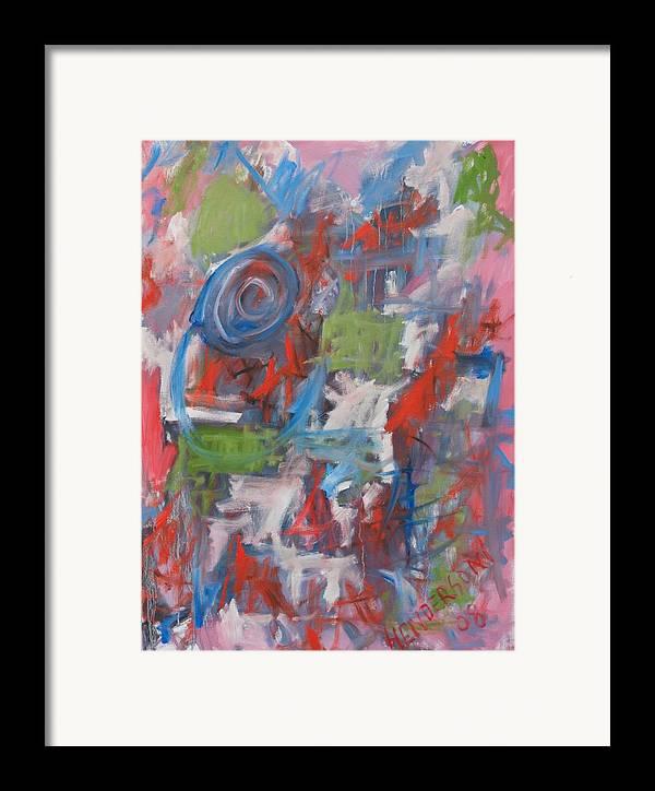 Abstract Framed Print featuring the painting Venice Abstract I by Michael Henderson