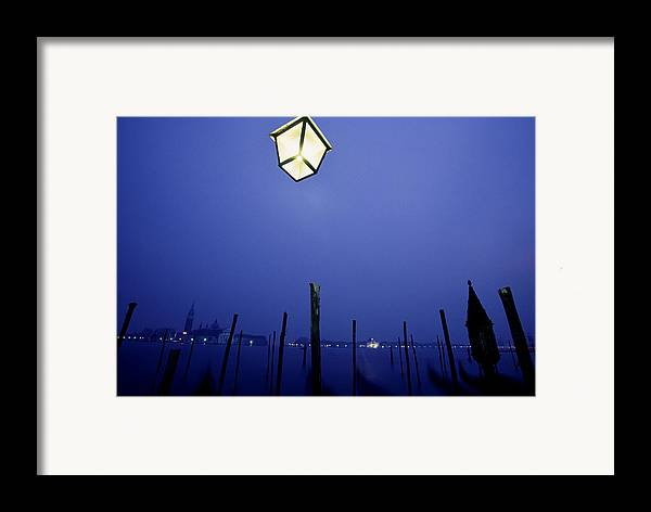 Blue Framed Print featuring the photograph Venice by Brad Rickerby