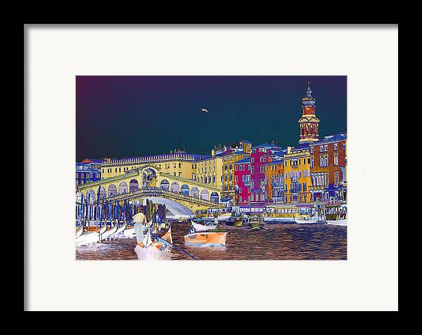 Venice Framed Print featuring the photograph Venice Canal by Charles Ridgway