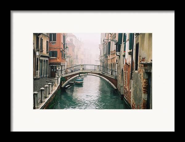Venice Framed Print featuring the photograph Venice Canal II by Kathy Schumann