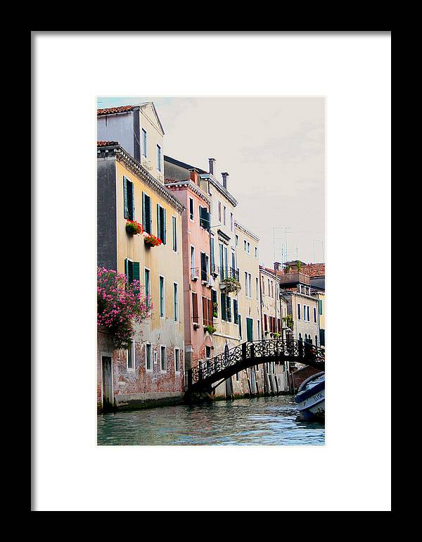 Venice Framed Print featuring the photograph Venice Canal View by Christopher Scirto