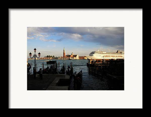 Venice Framed Print featuring the photograph Venice Cruise Ship by Andrew Fare