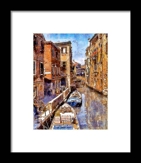 Venice Framed Print featuring the photograph Venice I by Gareth Davies