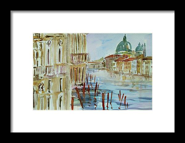 Venice Framed Print featuring the painting Venice Impression III by Xueling Zou