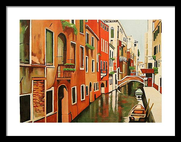 Venice Italy Framed Print featuring the painting Venice In Color by Patrick Hunt