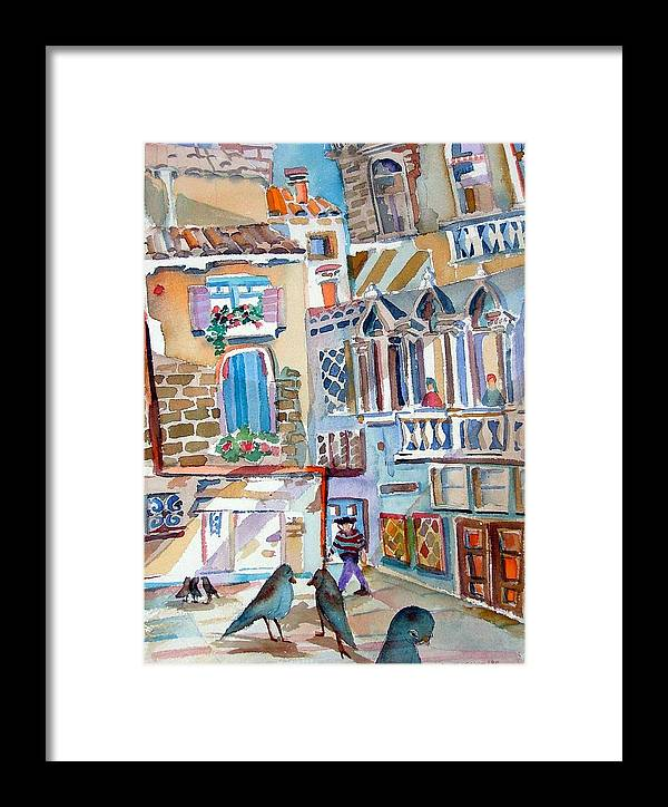 Venice Framed Print featuring the painting Venice Is Sinking by Mindy Newman