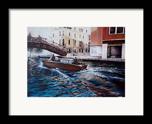 Venice Framed Print featuring the painting Venice by Jennifer Lycke