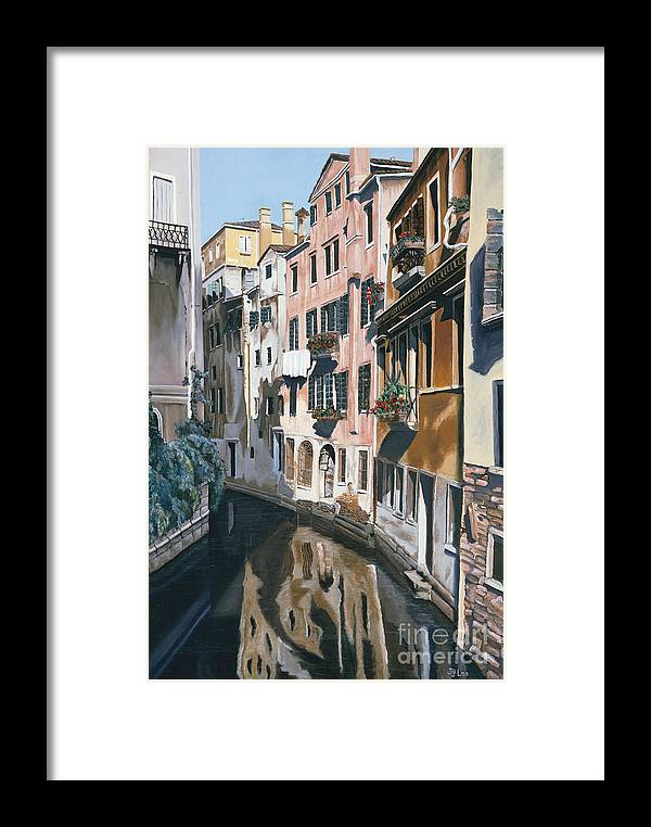 Venice Framed Print featuring the painting Venice by Jiji Lee