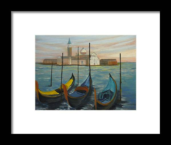 Italy Framed Print featuring the painting Venice by Joe Lanni