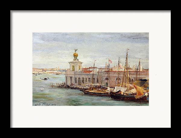 Boat Framed Print featuring the painting Venice by Sir Samuel Luke Fields