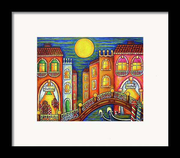 Colourful Framed Print featuring the painting Venice Soiree by Lisa Lorenz