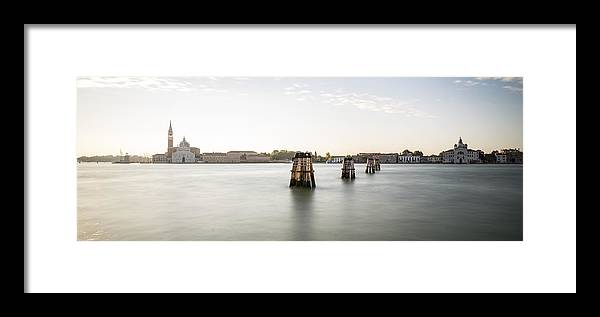 Venice Framed Print featuring the photograph Venice Sunrise 00365 by Marco Missiaja