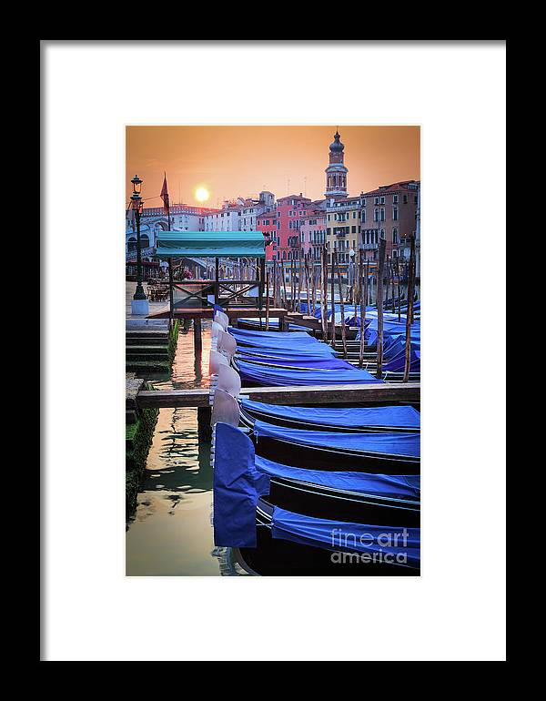 Canal Grande Framed Print featuring the photograph Venice Sunrise by Inge Johnsson