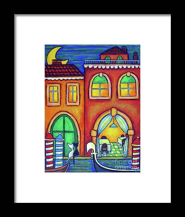 Venice Framed Print featuring the painting Venice Valentine II by Lisa Lorenz