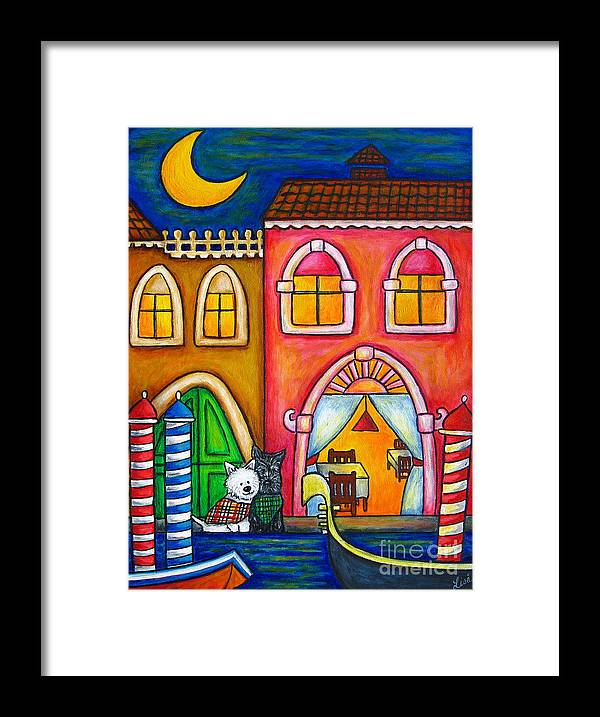Venice Framed Print featuring the painting Venice Valentine by Lisa Lorenz