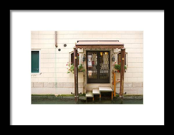 Canal Framed Print featuring the photograph Venitian Drive Through by Dan Nourie