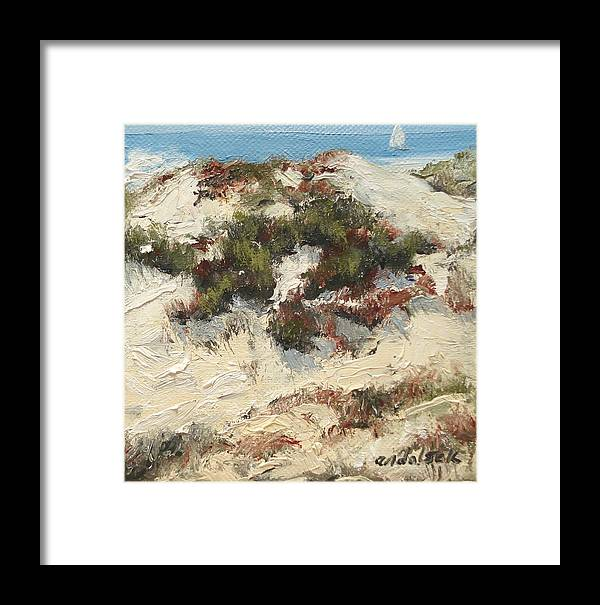 Water Framed Print featuring the painting Ventura Dunes I by Barbara Andolsek
