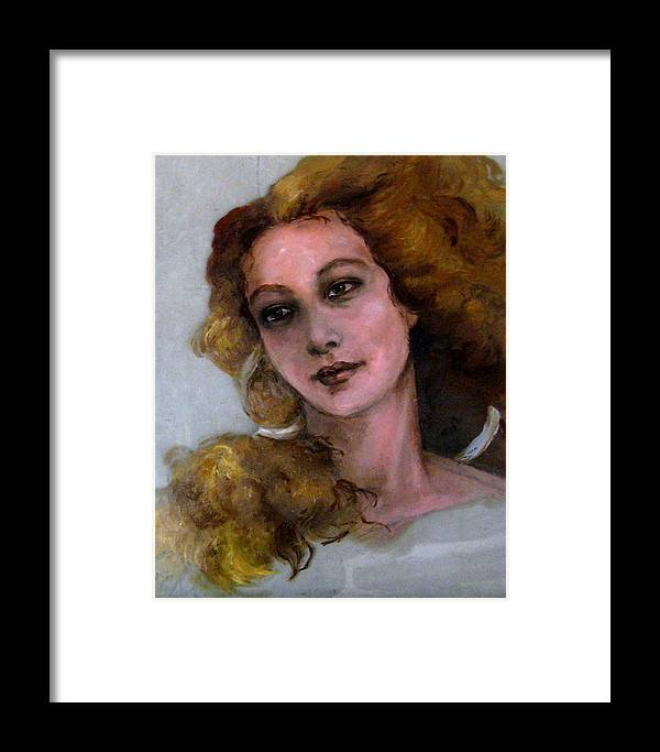 Portraits Framed Print featuring the painting Venus In Spring by Elisabeth Nussy Denzler von Botha