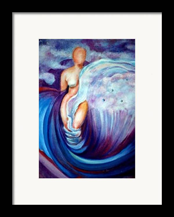 Surreal Artwork Framed Print featuring the painting Venus by Jordana Sands