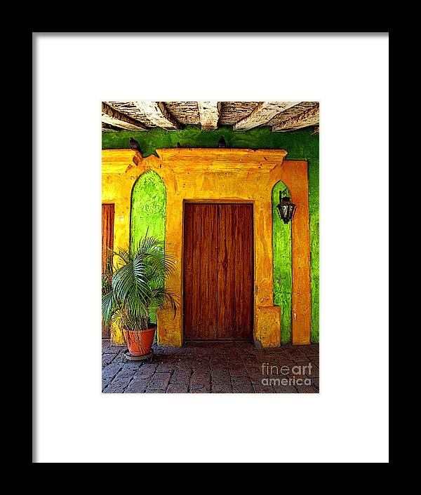 Darian Day Framed Print featuring the photograph Veranda El Quilete by Mexicolors Art Photography