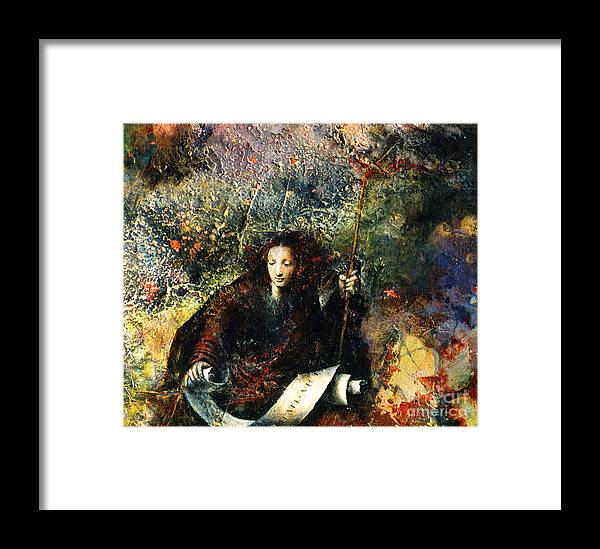 Truth Framed Print featuring the painting Veritas by Marne Adler