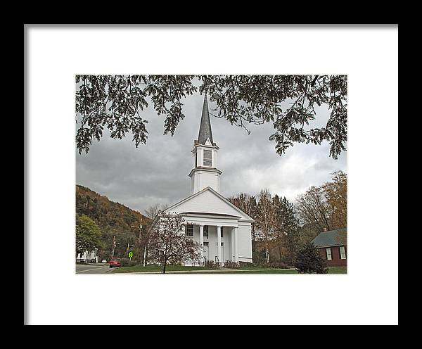 Church Framed Print featuring the photograph Vermont Church by Barbara McDevitt