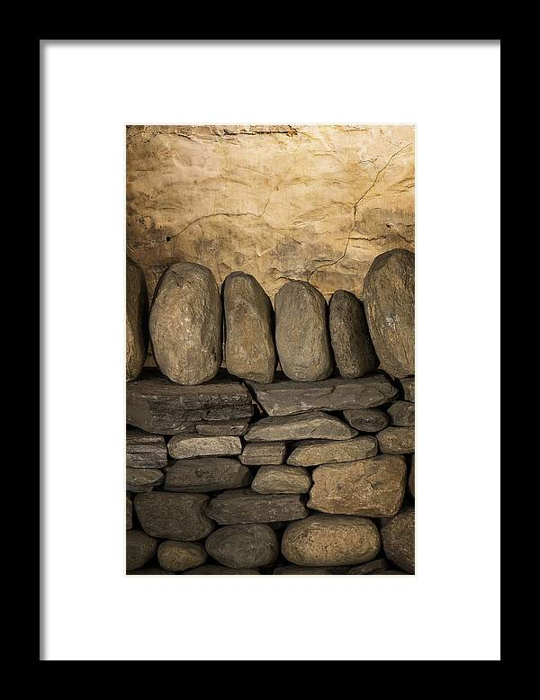 Scott Farm Vermont Framed Print featuring the photograph Vermont Rock Wall by Tom Singleton