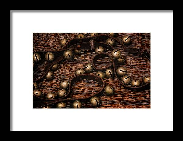 Kipling Framed Print featuring the photograph Vermont Sleigh Bells by Tom Singleton