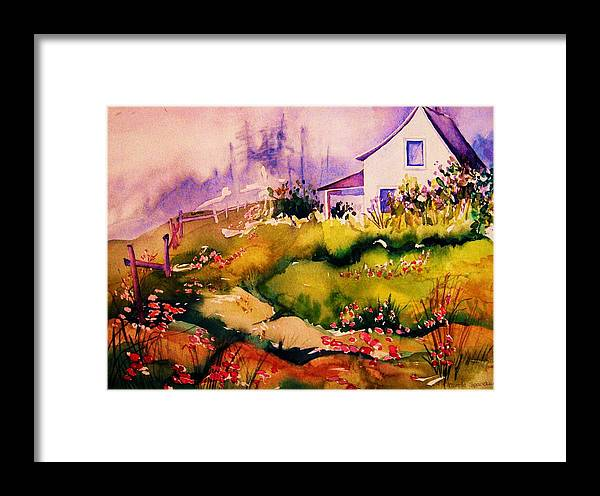 Cottagescenes Framed Print featuring the painting Vermont Summers by Carole Spandau