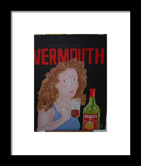 Acrylic Framed Print featuring the painting Vermouth by Raymond Nash