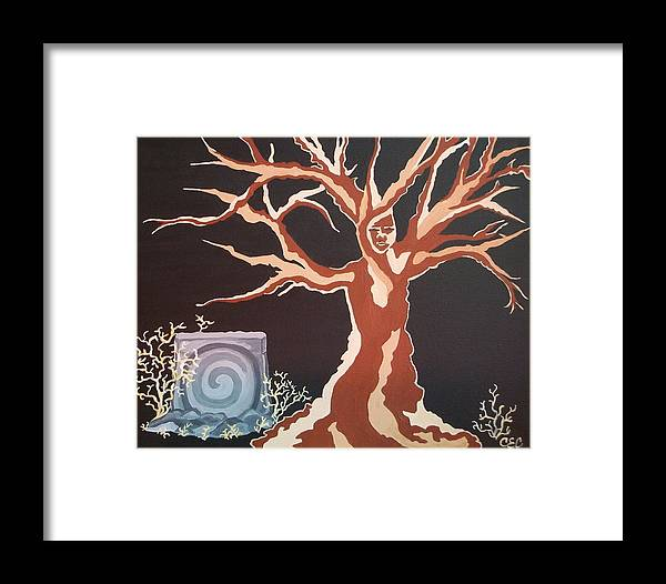 Vernal Framed Print featuring the painting Vernal Keep by Carolyn Cable