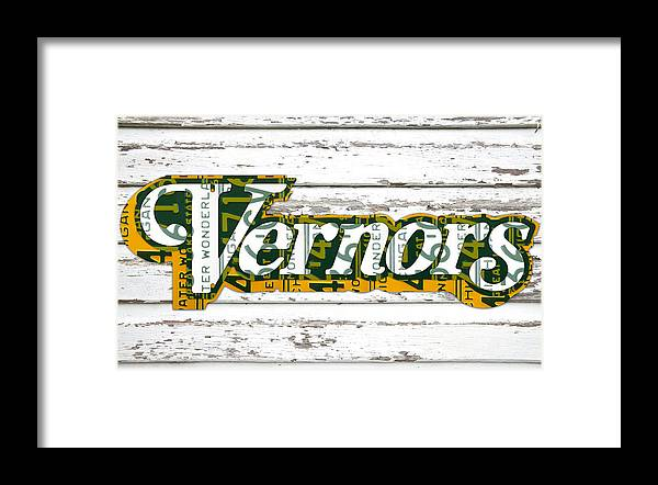 Vernors Beverage Company Recycled Michigan License Plate Art On Old ...
