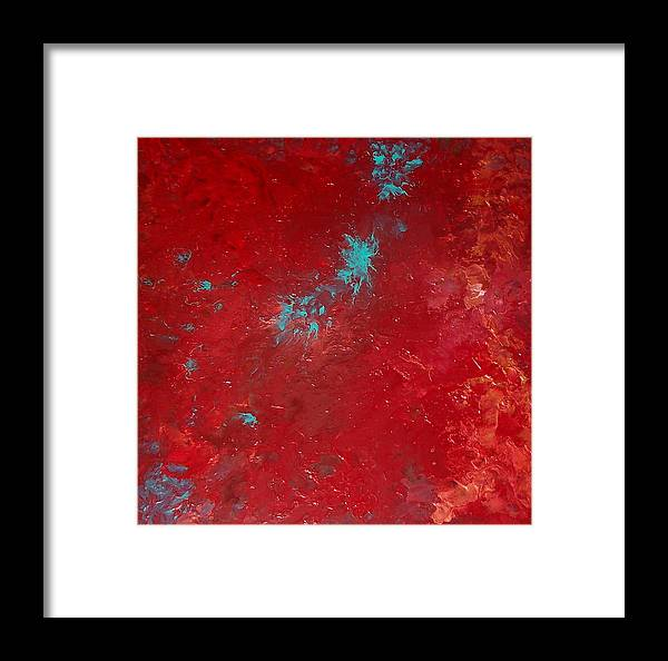 Red Framed Print featuring the painting Veronica by Jess Thorsen