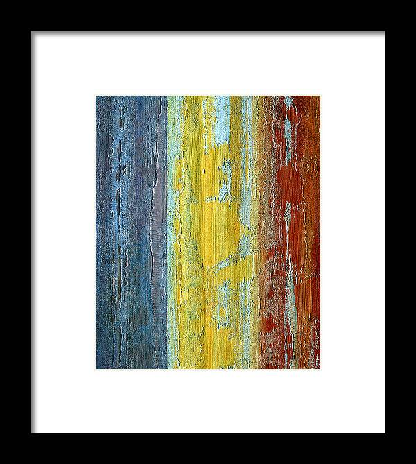 ruth Palmer Framed Print featuring the painting Vertical Interfusion II by Ruth Palmer