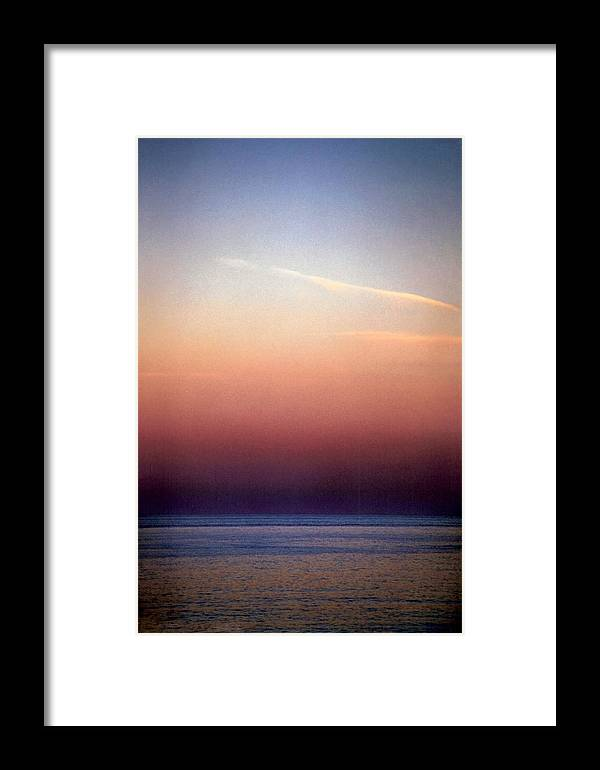 Landscape Framed Print featuring the photograph Vertical Number 1 by Sandra Gottlieb